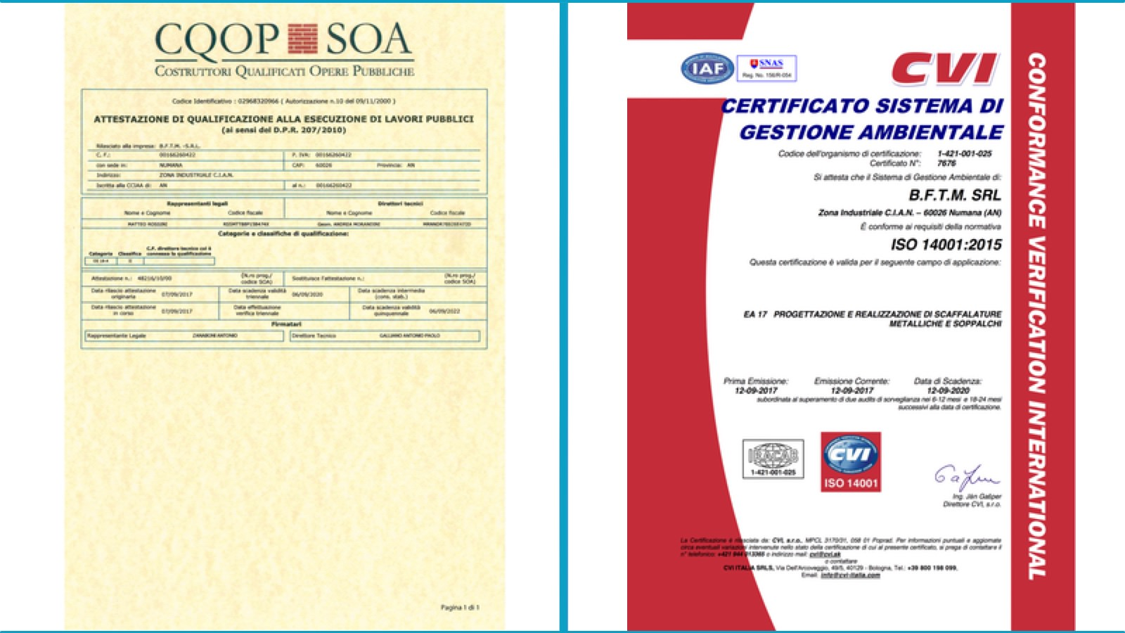 Bftm obtain further certification for the Integrated Quality-Environment-Safety Management System